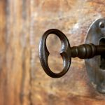 Lock and key in Korea Town